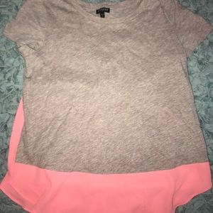 Tan and coral shirt from express